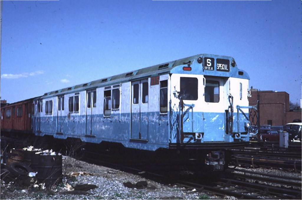 (143k, 1024x679)<br><b>Country:</b> United States<br><b>City:</b> New York<br><b>System:</b> New York City Transit<br><b>Location:</b> Coney Island Yard<br><b>Car:</b> R-10 (American Car & Foundry, 1948) 3015 <br><b>Photo by:</b> Steve Zabel<br><b>Collection of:</b> Joe Testagrose<br><b>Date:</b> 4/23/1971<br><b>Viewed (this week/total):</b> 3 / 3212