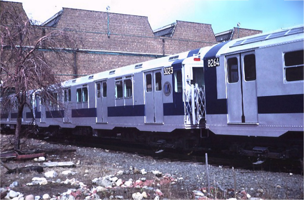 (185k, 1024x674)<br><b>Country:</b> United States<br><b>City:</b> New York<br><b>System:</b> New York City Transit<br><b>Location:</b> Coney Island Yard<br><b>Car:</b> R-10 (American Car & Foundry, 1948) 3023 <br><b>Photo by:</b> Steve Zabel<br><b>Collection of:</b> Joe Testagrose<br><b>Date:</b> 3/11/1972<br><b>Viewed (this week/total):</b> 0 / 2885