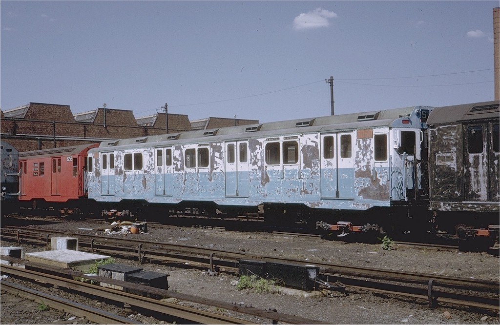 (212k, 1024x666)<br><b>Country:</b> United States<br><b>City:</b> New York<br><b>System:</b> New York City Transit<br><b>Location:</b> Coney Island Yard<br><b>Car:</b> R-10 (American Car & Foundry, 1948) 3050 <br><b>Photo by:</b> Steve Zabel<br><b>Collection of:</b> Joe Testagrose<br><b>Date:</b> 5/17/1971<br><b>Viewed (this week/total):</b> 4 / 2938
