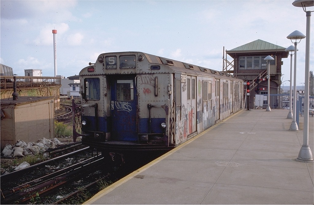 (190k, 1024x671)<br><b>Country:</b> United States<br><b>City:</b> New York<br><b>System:</b> New York City Transit<br><b>Location:</b> Coney Island/Stillwell Avenue<br><b>Car:</b> R-10 (American Car & Foundry, 1948) 3089 <br><b>Photo by:</b> Doug Grotjahn<br><b>Collection of:</b> Joe Testagrose<br><b>Date:</b> 10/7/1979<br><b>Viewed (this week/total):</b> 1 / 5940