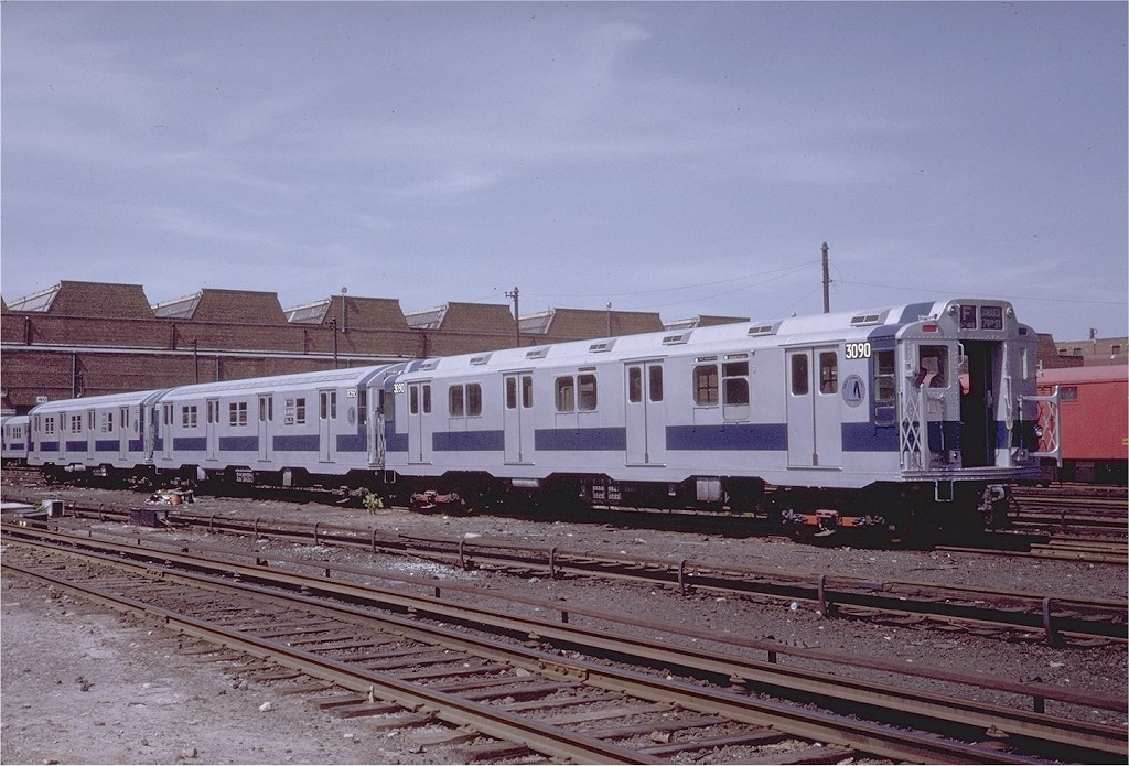 (206k, 1024x695)<br><b>Country:</b> United States<br><b>City:</b> New York<br><b>System:</b> New York City Transit<br><b>Location:</b> Coney Island Yard<br><b>Car:</b> R-10 (American Car & Foundry, 1948) 3090 <br><b>Photo by:</b> Steve Zabel<br><b>Collection of:</b> Joe Testagrose<br><b>Date:</b> 6/7/1971<br><b>Viewed (this week/total):</b> 5 / 2738
