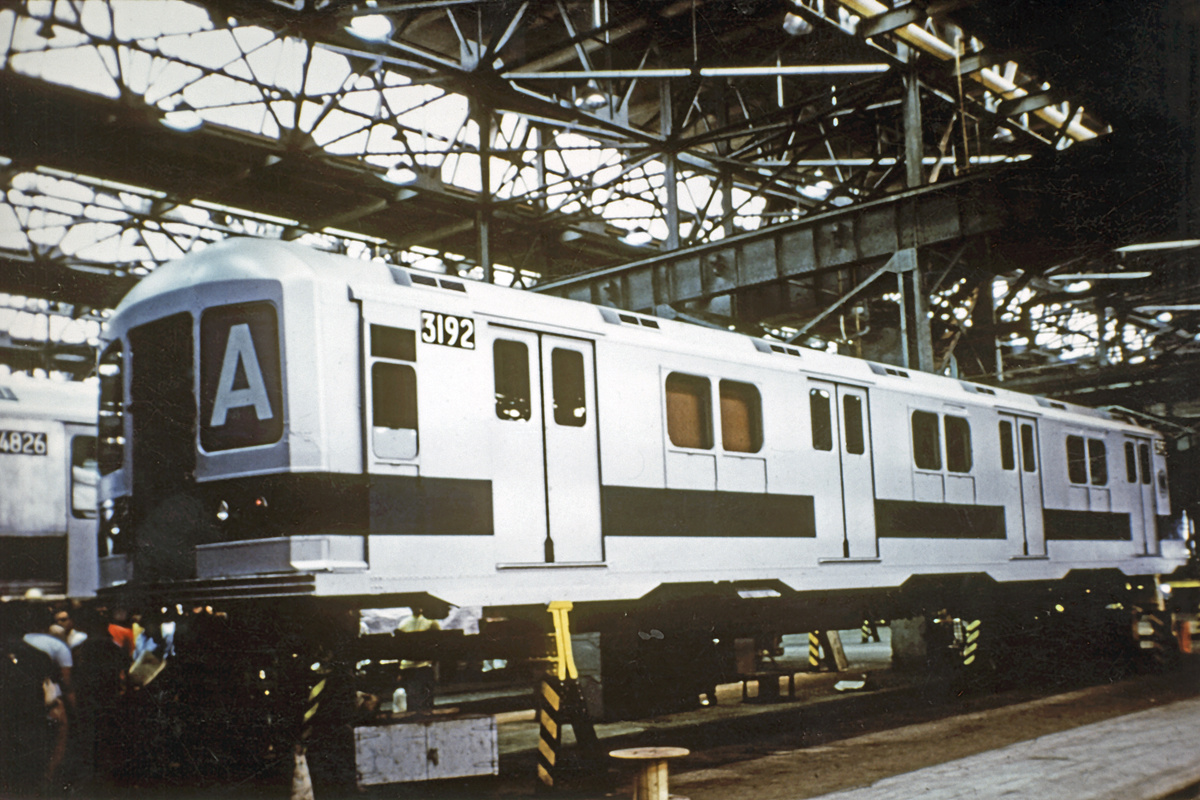 (380k, 1044x663)<br><b>Country:</b> United States<br><b>City:</b> New York<br><b>System:</b> New York City Transit<br><b>Location:</b> Coney Island Shop/Overhaul & Repair Shop<br><b>Car:</b> R-10 (American Car & Foundry, 1948) 3192 <br><b>Collection of:</b> David Pirmann<br><b>Date:</b> 1978<br><b>Notes:</b> Being rebuilt with R42 front end<br><b>Viewed (this week/total):</b> 4 / 12080