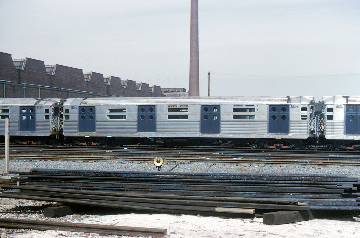 (334k, 1044x685)<br><b>Country:</b> United States<br><b>City:</b> New York<br><b>System:</b> New York City Transit<br><b>Location:</b> Coney Island Yard<br><b>Car:</b> R-11 (Budd, 1949) 8014 <br><b>Collection of:</b> David Pirmann<br><b>Date:</b> 6/20/1965<br><b>Viewed (this week/total):</b> 1 / 7070