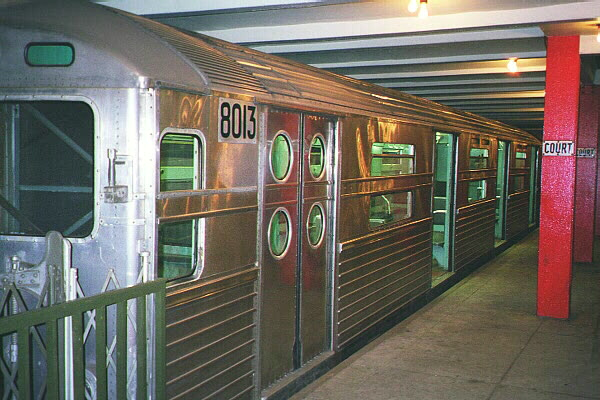 (125k, 600x400)<br><b>Country:</b> United States<br><b>City:</b> New York<br><b>System:</b> New York City Transit<br><b>Location:</b> New York Transit Museum<br><b>Car:</b> R-11 (Budd, 1949) 8013 <br><b>Photo by:</b> Sidney Keyles<br><b>Date:</b> 5/23/1999<br><b>Viewed (this week/total):</b> 7 / 12175
