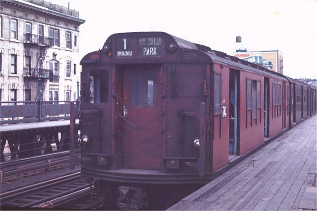 (126k, 1024x684)<br><b>Country:</b> United States<br><b>City:</b> New York<br><b>System:</b> New York City Transit<br><b>Line:</b> IRT West Side Line<br><b>Location:</b> 125th Street <br><b>Route:</b> 1<br><b>Car:</b> R-12 (American Car & Foundry, 1948) 5714 <br><b>Photo by:</b> Joe Testagrose<br><b>Date:</b> 4/4/1970<br><b>Viewed (this week/total):</b> 2 / 3078
