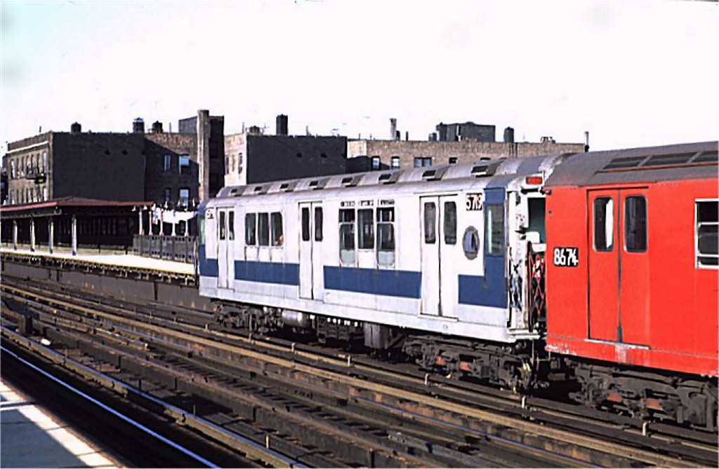 (160k, 1024x669)<br><b>Country:</b> United States<br><b>City:</b> New York<br><b>System:</b> New York City Transit<br><b>Line:</b> IRT West Side Line<br><b>Location:</b> 238th Street <br><b>Route:</b> 1<br><b>Car:</b> R-12 (American Car & Foundry, 1948) 5719 <br><b>Photo by:</b> Joe Testagrose<br><b>Date:</b> 8/14/1971<br><b>Viewed (this week/total):</b> 4 / 2884