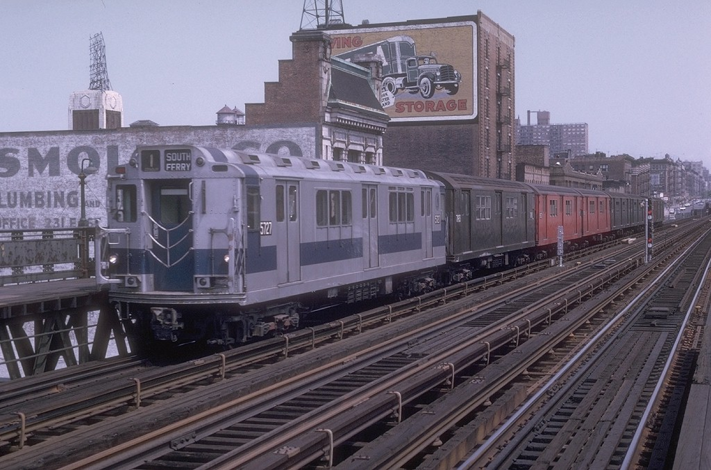 (205k, 1024x677)<br><b>Country:</b> United States<br><b>City:</b> New York<br><b>System:</b> New York City Transit<br><b>Line:</b> IRT West Side Line<br><b>Location:</b> 125th Street <br><b>Route:</b> 1<br><b>Car:</b> R-12 (American Car & Foundry, 1948) 5727 <br><b>Photo by:</b> Joe Testagrose<br><b>Date:</b> 2/24/1973<br><b>Viewed (this week/total):</b> 3 / 3794