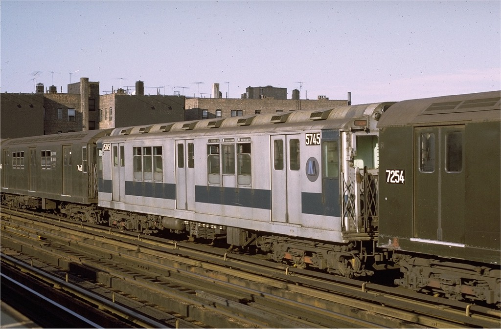(188k, 1024x674)<br><b>Country:</b> United States<br><b>City:</b> New York<br><b>System:</b> New York City Transit<br><b>Line:</b> IRT West Side Line<br><b>Location:</b> 238th Street <br><b>Route:</b> 1<br><b>Car:</b> R-12 (American Car & Foundry, 1948) 5745 <br><b>Photo by:</b> Joe Testagrose<br><b>Date:</b> 8/14/1971<br><b>Viewed (this week/total):</b> 2 / 2280