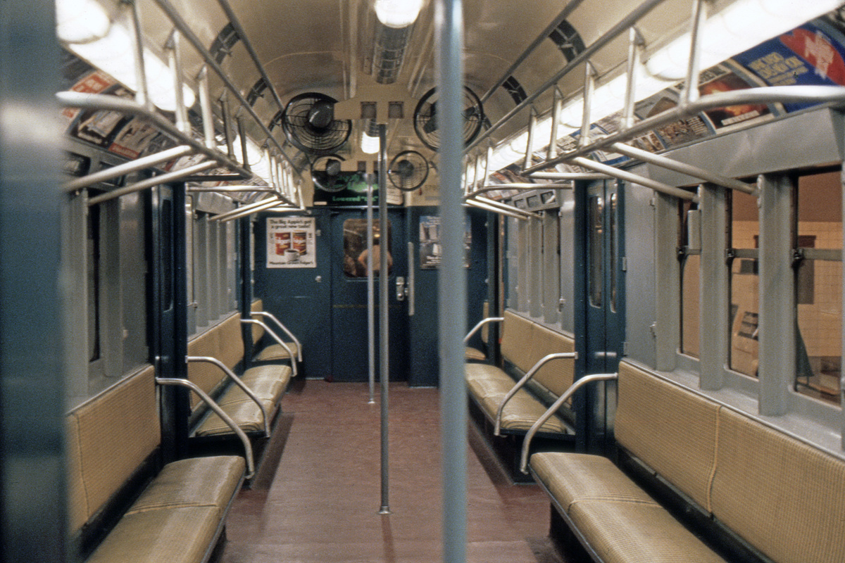 (474k, 1044x742)<br><b>Country:</b> United States<br><b>City:</b> New York<br><b>System:</b> New York City Transit<br><b>Location:</b> New York Transit Museum<br><b>Car:</b> R-12 (American Car & Foundry, 1948) 5760 <br><b>Photo by:</b> Steve Hoskins<br><b>Collection of:</b> David Pirmann<br><b>Date:</b> 8/1979<br><b>Viewed (this week/total):</b> 0 / 14439
