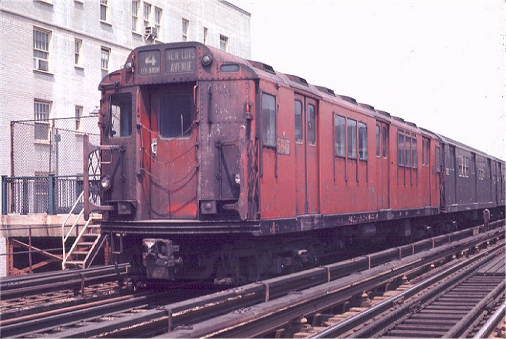 (188k, 1024x685)<br><b>Country:</b> United States<br><b>City:</b> New York<br><b>System:</b> New York City Transit<br><b>Line:</b> IRT Woodlawn Line<br><b>Location:</b> 183rd Street <br><b>Route:</b> 4<br><b>Car:</b> R-14 (American Car & Foundry, 1949) 5810 <br><b>Photo by:</b> Joe Testagrose<br><b>Date:</b> 5/9/1970<br><b>Viewed (this week/total):</b> 3 / 2550