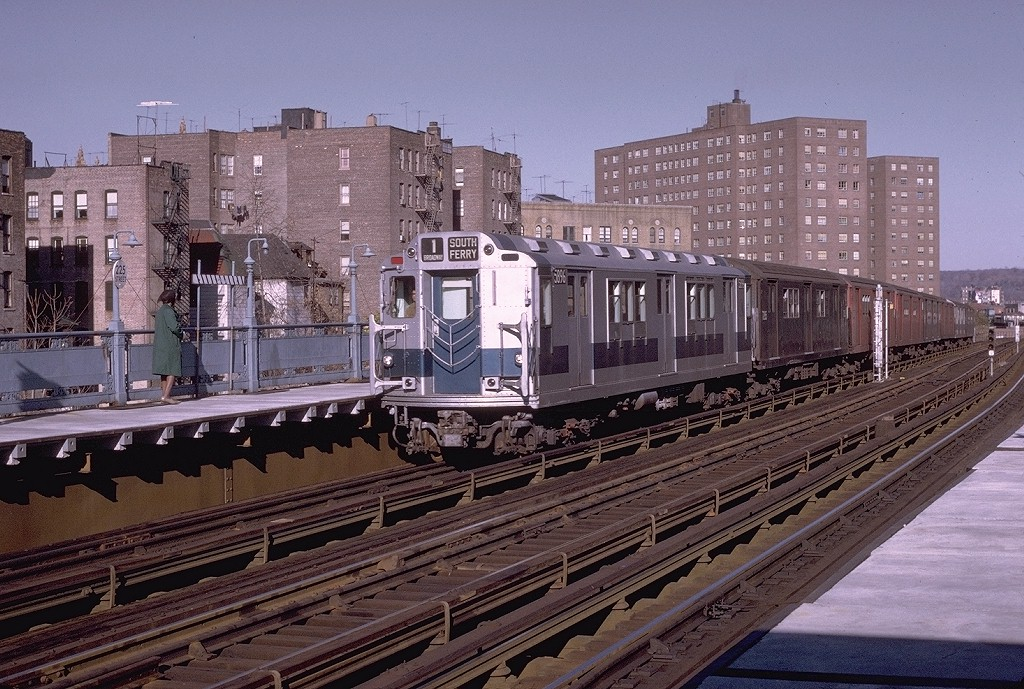 (252k, 1024x689)<br><b>Country:</b> United States<br><b>City:</b> New York<br><b>System:</b> New York City Transit<br><b>Line:</b> IRT West Side Line<br><b>Location:</b> 225th Street <br><b>Route:</b> 1<br><b>Car:</b> R-14 (American Car & Foundry, 1949) 5896 <br><b>Photo by:</b> Joe Testagrose<br><b>Date:</b> 11/21/1970<br><b>Viewed (this week/total):</b> 1 / 3177