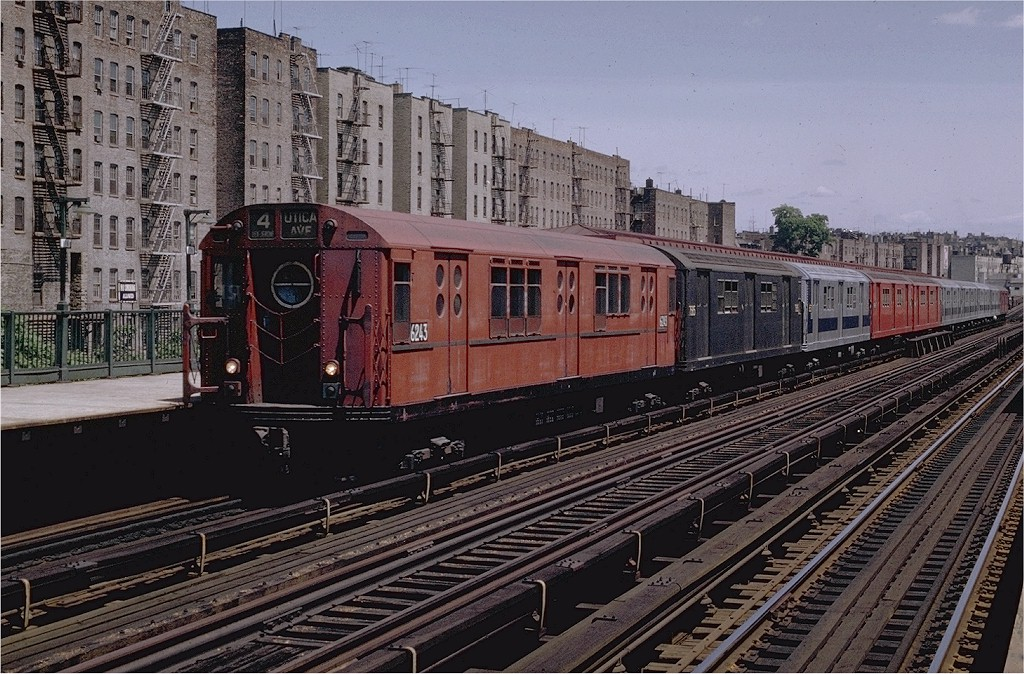 (255k, 1024x674)<br><b>Country:</b> United States<br><b>City:</b> New York<br><b>System:</b> New York City Transit<br><b>Line:</b> IRT Woodlawn Line<br><b>Location:</b> 176th Street <br><b>Route:</b> 4<br><b>Car:</b> R-15 (American Car & Foundry, 1950) 6243 <br><b>Photo by:</b> Joe Testagrose<br><b>Date:</b> 6/13/1970<br><b>Viewed (this week/total):</b> 2 / 3615