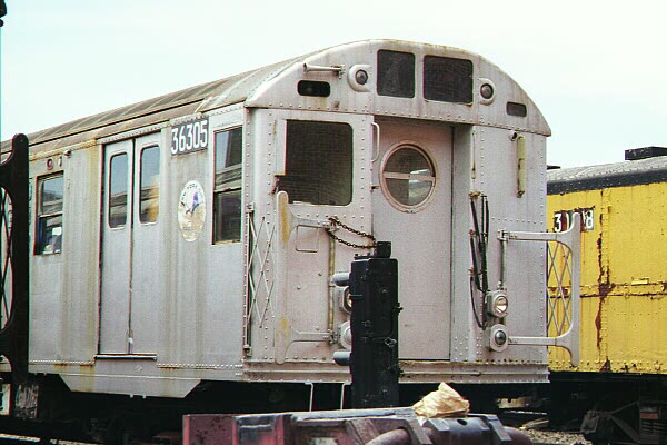(108k, 600x400)<br><b>Country:</b> United States<br><b>City:</b> New York<br><b>System:</b> New York City Transit<br><b>Location:</b> Coney Island Yard-Museum Yard<br><b>Car:</b> R-16 (American Car & Foundry, 1955) 6305 <br><b>Photo by:</b> Sidney Keyles<br><b>Date:</b> 5/22/1999<br><b>Viewed (this week/total):</b> 4 / 7976