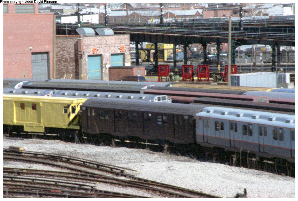 (265k, 1044x705)<br><b>Country:</b> United States<br><b>City:</b> New York<br><b>System:</b> New York City Transit<br><b>Location:</b> Coney Island Yard-Museum Yard<br><b>Car:</b> R-16 (American Car & Foundry, 1955) 6387 <br><b>Photo by:</b> David Pirmann<br><b>Date:</b> 2/24/1996<br><b>Viewed (this week/total):</b> 3 / 3774