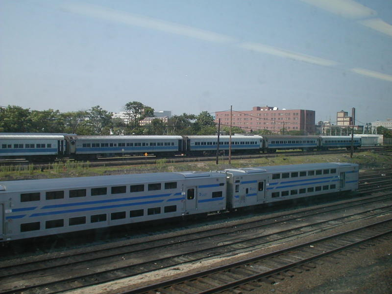 (69k, 800x600)<br><b>Country:</b> United States<br><b>City:</b> New York<br><b>System:</b> Long Island Rail Road<br><b>Line:</b> LIRR Long Island City<br><b>Location:</b> Long Island City <br><b>Car:</b> LIRR Kawasaki C-3/C-R (Bilevel Coach/Cab)  <br><b>Photo by:</b> Todd Glickman<br><b>Date:</b> 7/21/2000<br><b>Viewed (this week/total):</b> 0 / 4266