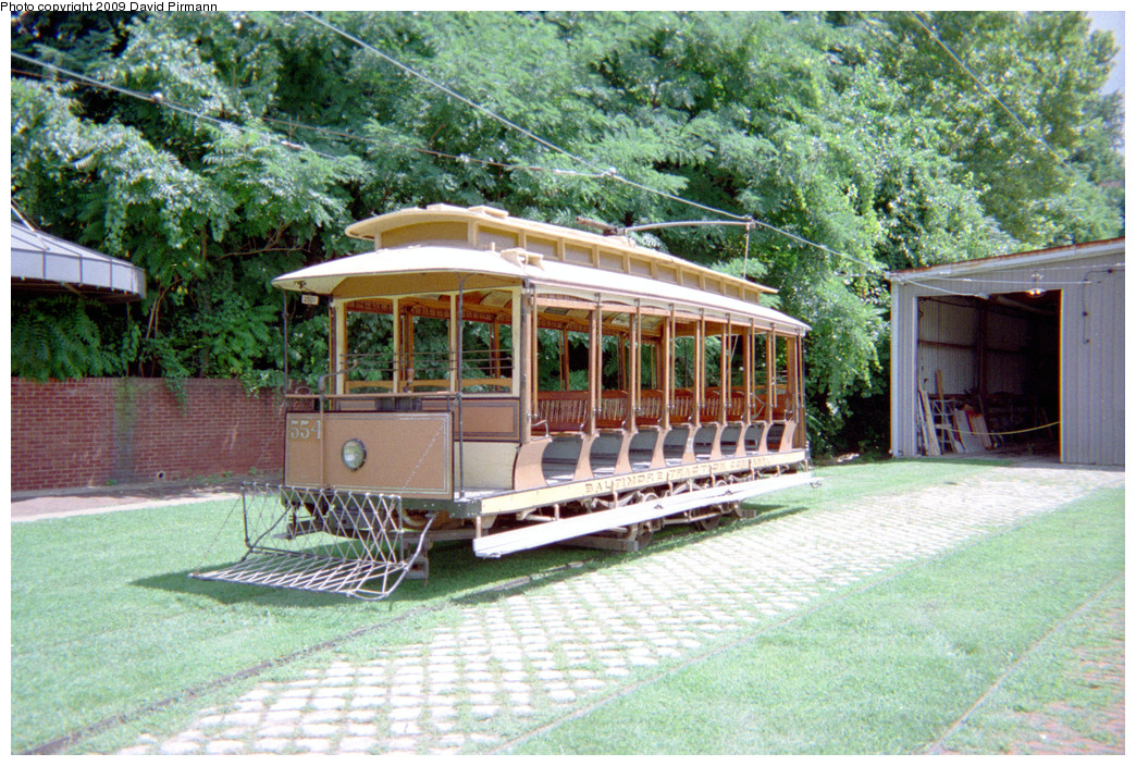 (378k, 1044x704)<br><b>Country:</b> United States<br><b>City:</b> Baltimore, MD<br><b>System:</b> Baltimore Streetcar Museum <br><b>Car:</b>  554 <br><b>Photo by:</b> David Pirmann<br><b>Date:</b> 8/10/1996<br><b>Notes:</b> 1896 Brownell open car #554<br><b>Viewed (this week/total):</b> 2 / 1449