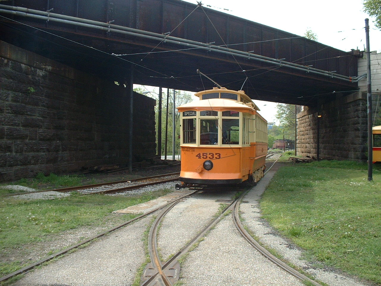 (296k, 1280x960)<br><b>Country:</b> United States<br><b>City:</b> Baltimore, MD<br><b>System:</b> Baltimore Streetcar Museum <br><b>Car:</b>  4533 <br><b>Photo by:</b> Dan Lawrence<br><b>Date:</b> 4/27/2002<br><b>Viewed (this week/total):</b> 0 / 2006