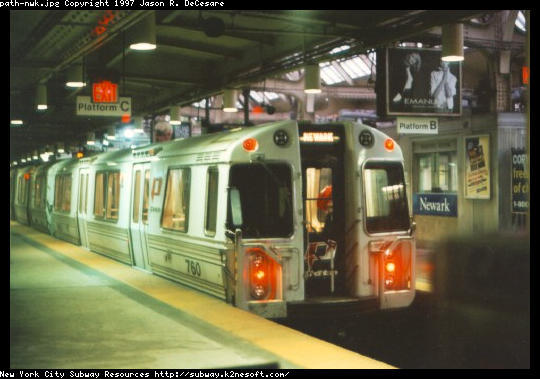 (41k, 540x379)<br><b>Country:</b> United States<br><b>City:</b> Newark, NJ<br><b>System:</b> PATH<br><b>Location:</b> Newark (Penn Station) <br><b>Car:</b> PATH PA-3 (Hawker-Siddley, 1972)  760 <br><b>Photo by:</b> Jason R. DeCesare<br><b>Viewed (this week/total):</b> 6 / 5863