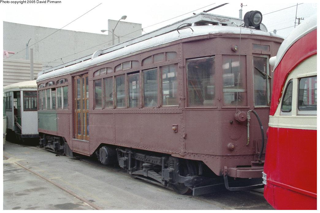 (182k, 1044x694)<br><b>Country:</b> United States<br><b>City:</b> San Francisco/Bay Area, CA<br><b>System:</b> SF MUNI<br><b>Location:</b> Geneva Yard <br><b>Car:</b> Milan Tram 96 <br><b>Photo by:</b> David Pirmann<br><b>Date:</b> 7/7/1996<br><b>Viewed (this week/total):</b> 7 / 2224