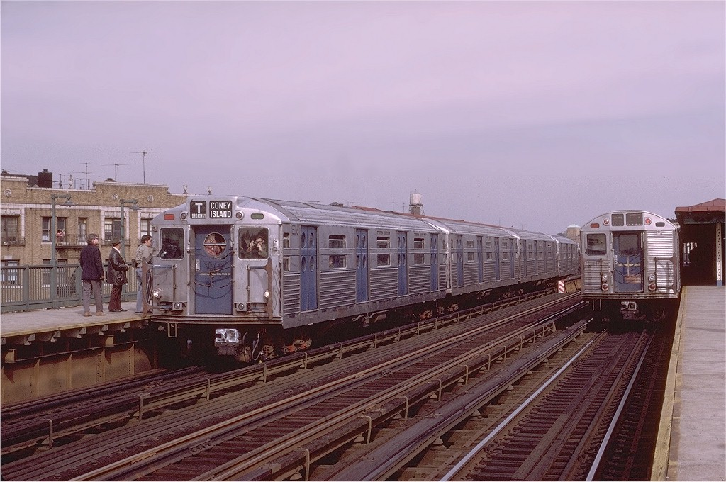(195k, 1024x680)<br><b>Country:</b> United States<br><b>City:</b> New York<br><b>System:</b> New York City Transit<br><b>Line:</b> BMT West End Line<br><b>Location:</b> 55th Street <br><b>Route:</b> Fan Trip<br><b>Car:</b> R-11 (Budd, 1949) 8016 <br><b>Photo by:</b> Joe Testagrose<br><b>Date:</b> 10/21/1972<br><b>Viewed (this week/total):</b> 3 / 2503