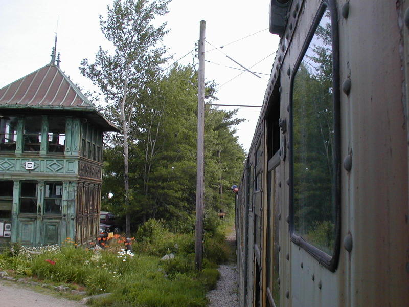 (101k, 800x600)<br><b>Country:</b> United States<br><b>City:</b> Kennebunk, ME<br><b>System:</b> Seashore Trolley Museum <br><b>Photo by:</b> Todd Glickman<br><b>Date:</b> 7/15/2000<br><b>Notes:</b> Conductor Doug aka BMTman watchin' the clozin' dawz.<br><b>Viewed (this week/total):</b> 0 / 3756