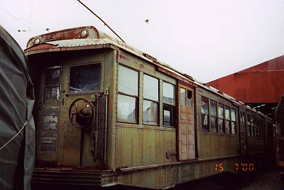(37k, 557x372)<br><b>Country:</b> United States<br><b>City:</b> Kennebunk, ME<br><b>System:</b> Seashore Trolley Museum <br><b>Car:</b> MBTA 0700 Series Cambridge-Dorchester (Osgood-Bradley, 1927)  0719 <br><b>Photo by:</b> Thurston Clark<br><b>Date:</b> 7/15/2000<br><b>Notes:</b> Boston Subway, Cambridge-Dorchester (Red Line) Tunnel Car #0719, mfg 1927 by Osgood-Bradley<br><b>Viewed (this week/total):</b> 0 / 1828