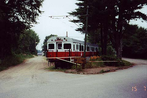 (33k, 480x321)<br><b>Country:</b> United States<br><b>City:</b> Kennebunk, ME<br><b>System:</b> Seashore Trolley Museum <br><b>Car:</b> MBTA 01400 Series (Pullman-Standard, 1963)  01450 <br><b>Photo by:</b> Thurston Clark<br><b>Date:</b> 7/15/2000<br><b>Notes:</b> Boston Red Line car 01450<br><b>Viewed (this week/total):</b> 0 / 2299