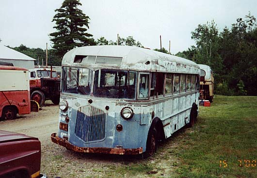 (50k, 530x368)<br><b>Country:</b> United States<br><b>City:</b> Kennebunk, ME<br><b>System:</b> Seashore Trolley Museum <br><b>Photo by:</b> Thurston Clark<br><b>Date:</b> 7/15/2000<br><b>Notes:</b> A-60 is former Red Star Way Inc.; Mfg 1935 by Twin Coach Intercity 23S<br><b>Viewed (this week/total):</b> 0 / 3778