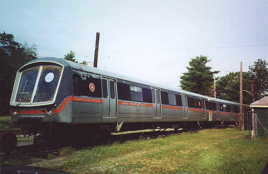 (100k, 861x561)<br><b>Country:</b> United States<br><b>City:</b> Kennebunk, ME<br><b>System:</b> Seashore Trolley Museum <br><b>Car:</b> SOAC  <br><b>Photo by:</b> Doug Diamond<br><b>Date:</b> 7/15/2000<br><b>Notes:</b> SOAC commuter and rapid transit cars<br><b>Viewed (this week/total):</b> 1 / 4217