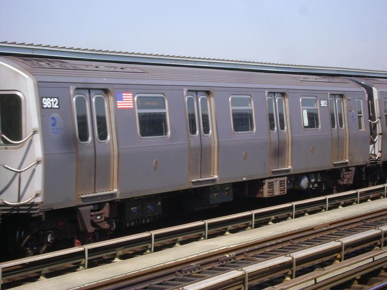 (88k, 768x576)<br><b>Country:</b> United States<br><b>City:</b> New York<br><b>System:</b> New York City Transit<br><b>Line:</b> BMT Culver Line<br><b>Location:</b> Avenue P <br><b>Route:</b> F<br><b>Car:</b> R-160B (Option 2) (Kawasaki, 2009)  9812 <br><b>Photo by:</b> John Dooley<br><b>Date:</b> 4/8/2010<br><b>Viewed (this week/total):</b> 3 / 579