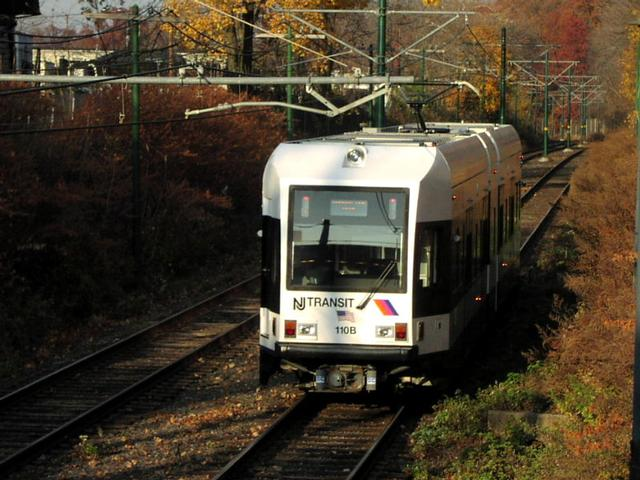 (58k, 640x480)<br><b>Country:</b> United States<br><b>City:</b> Newark, NJ<br><b>System:</b> Newark City Subway<br><b>Line:</b> 7-City Subway<br><b>Location:</b> Bloomfield Avenue <br><b>Car:</b> NJT Kinki-Sharyo LRV (Newark) 110 <br><b>Photo by:</b> Trevor Logan<br><b>Date:</b> 11/19/2001<br><b>Viewed (this week/total):</b> 2 / 4363