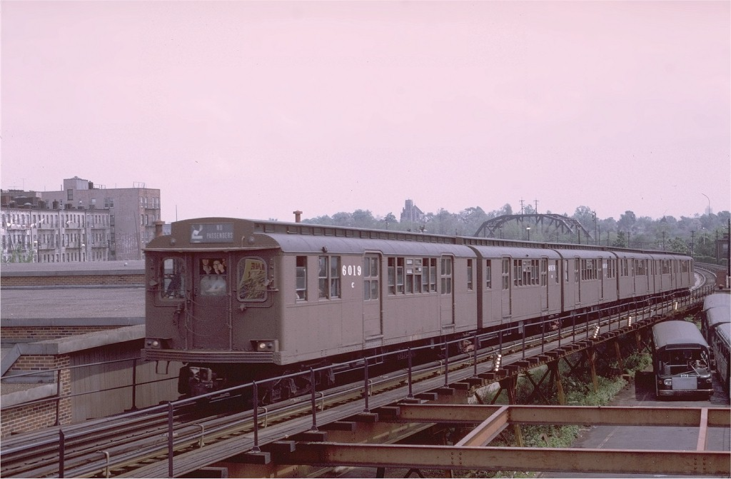 (160k, 1024x671)<br><b>Country:</b> United States<br><b>City:</b> New York<br><b>System:</b> New York City Transit<br><b>Line:</b> BMT Myrtle Avenue Line<br><b>Location:</b> Fresh Pond Road <br><b>Route:</b> Fan Trip<br><b>Car:</b> BMT D-Type Triplex 6019 <br><b>Photo by:</b> Joe Testagrose<br><b>Date:</b> 5/18/1975<br><b>Viewed (this week/total):</b> 5 / 3839