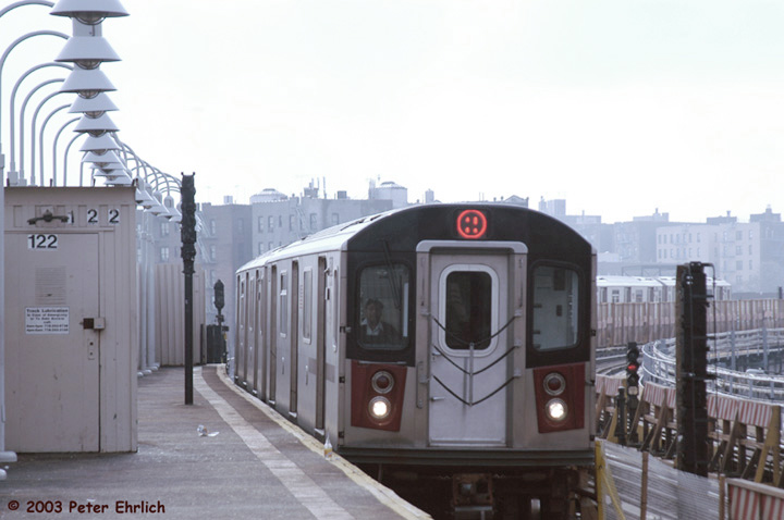 (100k, 720x478)<br><b>Country:</b> United States<br><b>City:</b> New York<br><b>System:</b> New York City Transit<br><b>Line:</b> IRT White Plains Road Line<br><b>Location:</b> West Farms Sq./East Tremont Ave./177th St. <br><b>Route:</b> 2<br><b>Car:</b> R-142 (Primary Order, Bombardier, 1999-2002)  6521 <br><b>Photo by:</b> Peter Ehrlich<br><b>Date:</b> 3/5/2003<br><b>Viewed (this week/total):</b> 0 / 5088