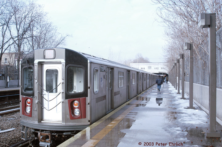 (156k, 720x478)<br><b>Country:</b> United States<br><b>City:</b> New York<br><b>System:</b> New York City Transit<br><b>Line:</b> IRT Dyre Ave. Line<br><b>Location:</b> Gun Hill Road <br><b>Route:</b> 5<br><b>Car:</b> R-142 (Option Order, Bombardier, 2002-2003)  7115 <br><b>Photo by:</b> Peter Ehrlich<br><b>Date:</b> 3/5/2003<br><b>Viewed (this week/total):</b> 0 / 6216