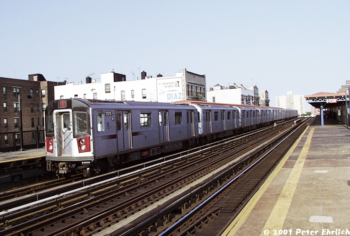 (150k, 720x487)<br><b>Country:</b> United States<br><b>City:</b> New York<br><b>System:</b> New York City Transit<br><b>Line:</b> IRT Pelham Line<br><b>Location:</b> Elder Avenue <br><b>Route:</b> 6<br><b>Car:</b> R-142A (Primary Order, Kawasaki, 1999-2002)  7375 <br><b>Photo by:</b> Peter Ehrlich<br><b>Date:</b> 8/26/2001<br><b>Viewed (this week/total):</b> 0 / 3753