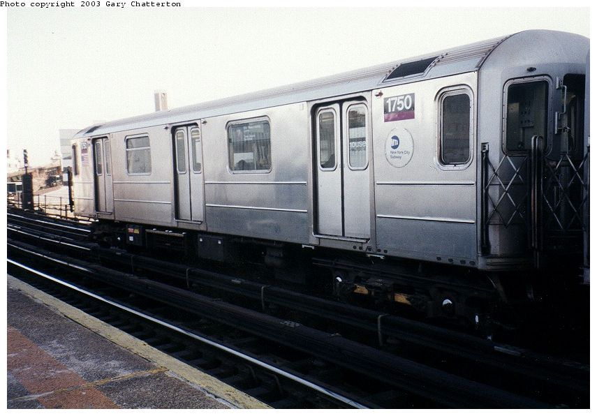 (85k, 855x596)<br><b>Country:</b> United States<br><b>City:</b> New York<br><b>System:</b> New York City Transit<br><b>Line:</b> IRT Flushing Line<br><b>Location:</b> Court House Square/45th Road <br><b>Route:</b> 7<br><b>Car:</b> R-62A (Bombardier, 1984-1987)  1750 <br><b>Photo by:</b> Gary Chatterton<br><b>Date:</b> 1/2003<br><b>Viewed (this week/total):</b> 1 / 2382