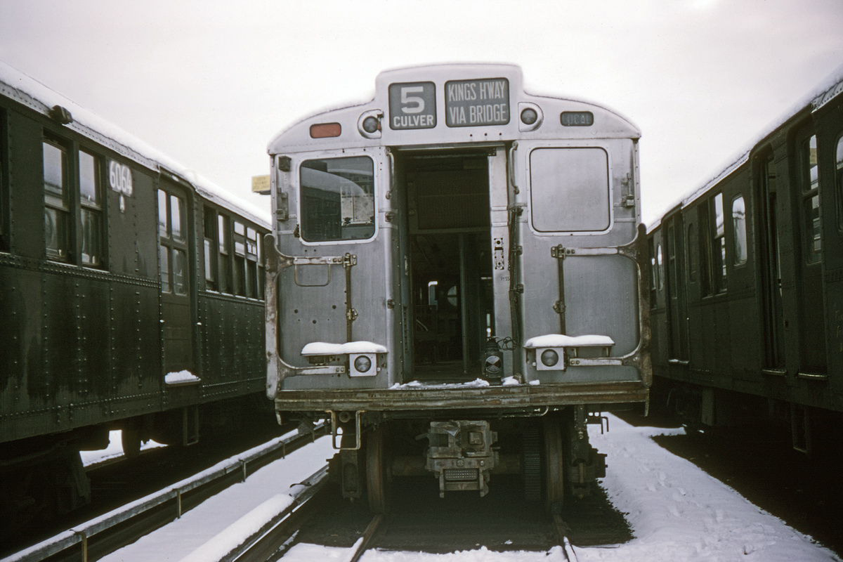 (256k, 1044x711)<br><b>Country:</b> United States<br><b>City:</b> New York<br><b>System:</b> New York City Transit<br><b>Location:</b> Coney Island Yard<br><b>Car:</b> R-11 (Budd, 1949) 8012 <br><b>Collection of:</b> David Pirmann<br><b>Date:</b> 12/20/1964<br><b>Viewed (this week/total):</b> 2 / 2721