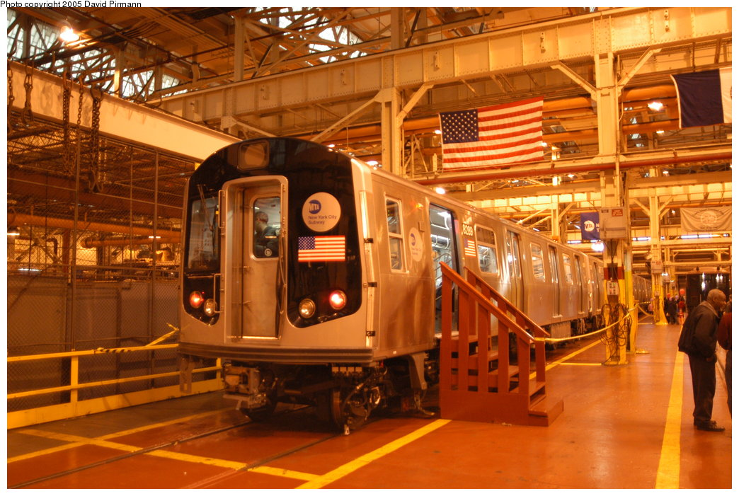 (230k, 1044x701)<br><b>Country:</b> United States<br><b>City:</b> New York<br><b>System:</b> New York City Transit<br><b>Location:</b> Coney Island Shop/Overhaul & Repair Shop<br><b>Car:</b> R-143 (Kawasaki, 2001-2002) 8289 <br><b>Photo by:</b> David Pirmann<br><b>Date:</b> 4/5/2003<br><b>Viewed (this week/total):</b> 4 / 13569