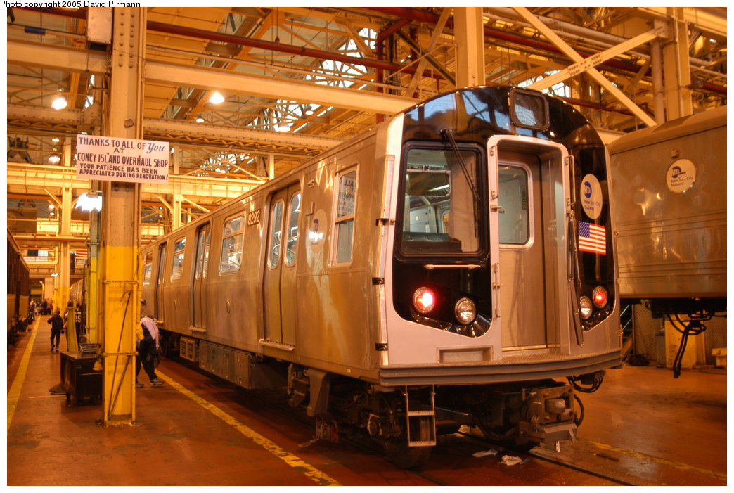 (226k, 1044x701)<br><b>Country:</b> United States<br><b>City:</b> New York<br><b>System:</b> New York City Transit<br><b>Location:</b> Coney Island Shop/Overhaul & Repair Shop<br><b>Car:</b> R-143 (Kawasaki, 2001-2002) 8292 <br><b>Photo by:</b> David Pirmann<br><b>Date:</b> 4/5/2003<br><b>Viewed (this week/total):</b> 0 / 10389