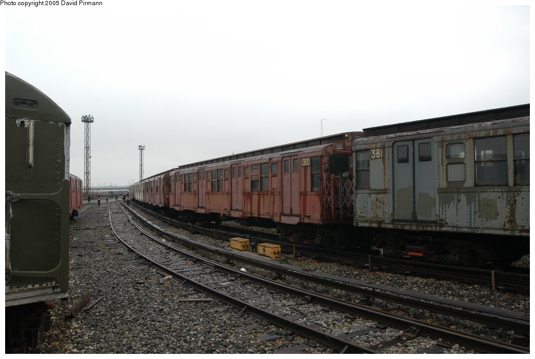 (171k, 1044x701)<br><b>Country:</b> United States<br><b>City:</b> New York<br><b>System:</b> New York City Transit<br><b>Location:</b> Coney Island Yard-Museum Yard<br><b>Car:</b> R-6-1 (Pressed Steel, 1936)  1300 <br><b>Photo by:</b> David Pirmann<br><b>Date:</b> 4/5/2003<br><b>Viewed (this week/total):</b> 0 / 7361