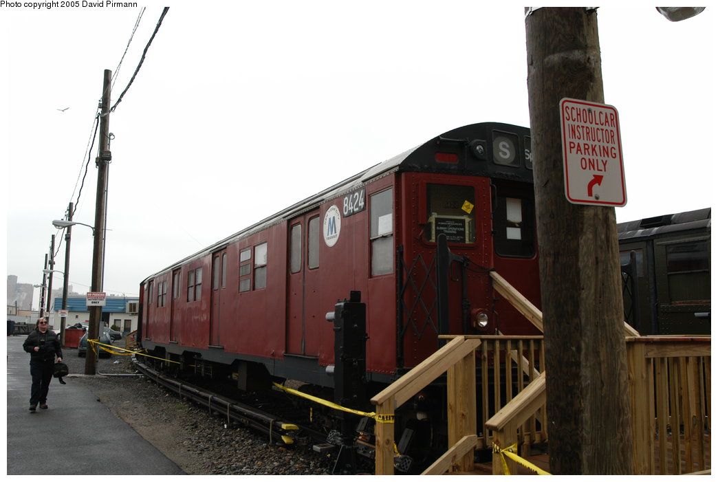 (160k, 1044x701)<br><b>Country:</b> United States<br><b>City:</b> New York<br><b>System:</b> New York City Transit<br><b>Location:</b> Coney Island Yard-Training Facilities<br><b>Car:</b> R-30 (St. Louis, 1961) 8424 <br><b>Photo by:</b> David Pirmann<br><b>Date:</b> 4/5/2003<br><b>Viewed (this week/total):</b> 1 / 4833