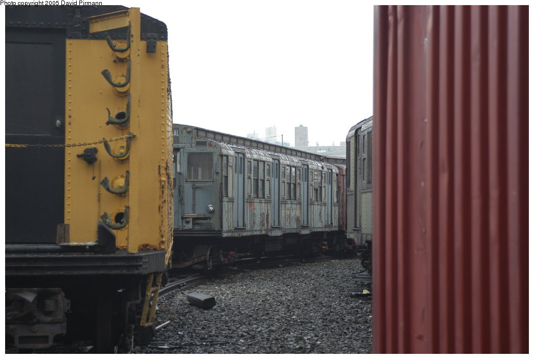 (148k, 1044x701)<br><b>Country:</b> United States<br><b>City:</b> New York<br><b>System:</b> New York City Transit<br><b>Location:</b> Coney Island Yard-Museum Yard<br><b>Car:</b> R-1 (American Car & Foundry, 1930-1931) 381 <br><b>Photo by:</b> David Pirmann<br><b>Date:</b> 4/5/2003<br><b>Viewed (this week/total):</b> 2 / 5509