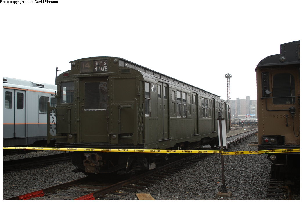 (155k, 1044x701)<br><b>Country:</b> United States<br><b>City:</b> New York<br><b>System:</b> New York City Transit<br><b>Location:</b> Coney Island Yard-Museum Yard<br><b>Car:</b> R-4 (American Car & Foundry, 1932-1933) 491 (ex-401)<br><b>Photo by:</b> David Pirmann<br><b>Date:</b> 4/5/2003<br><b>Viewed (this week/total):</b> 2 / 3683