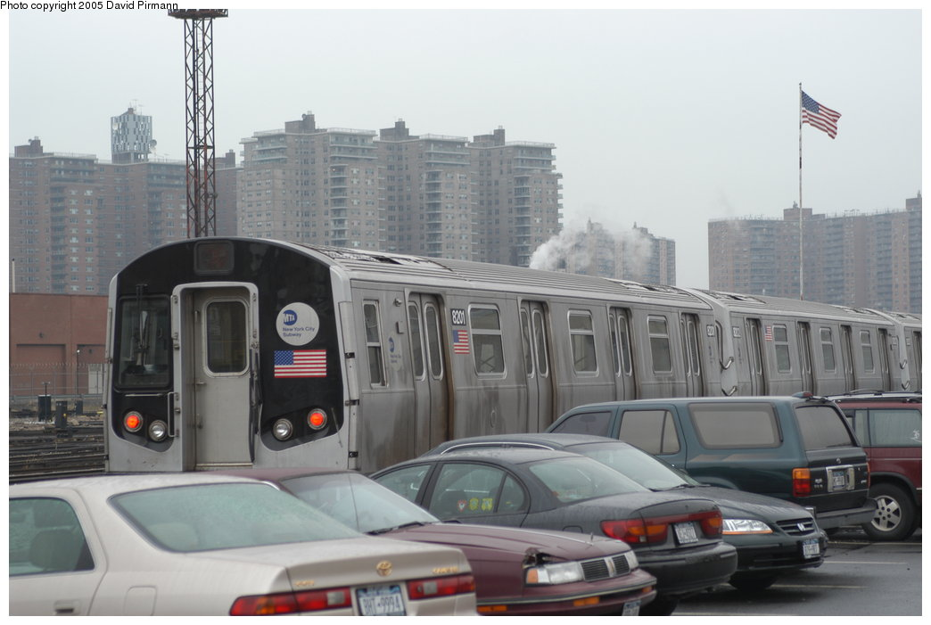 (162k, 1044x701)<br><b>Country:</b> United States<br><b>City:</b> New York<br><b>System:</b> New York City Transit<br><b>Location:</b> Coney Island Yard<br><b>Car:</b> R-143 (Kawasaki, 2001-2002) 8201 <br><b>Photo by:</b> David Pirmann<br><b>Date:</b> 4/5/2003<br><b>Viewed (this week/total):</b> 2 / 5818