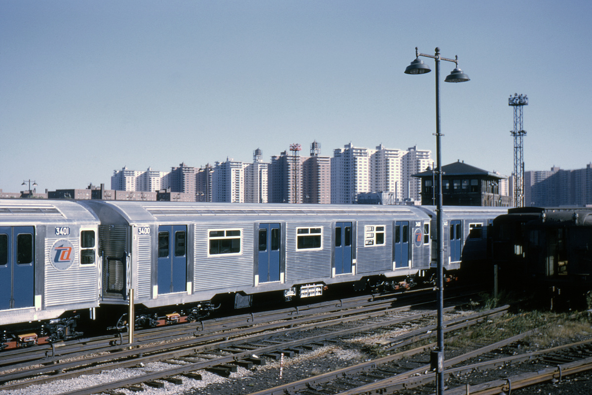 (388k, 1044x694)<br><b>Country:</b> United States<br><b>City:</b> New York<br><b>System:</b> New York City Transit<br><b>Location:</b> Coney Island Yard<br><b>Car:</b> R-32 (Budd, 1964)  3400 <br><b>Collection of:</b> David Pirmann<br><b>Date:</b> 10/3/1964<br><b>Viewed (this week/total):</b> 5 / 5299