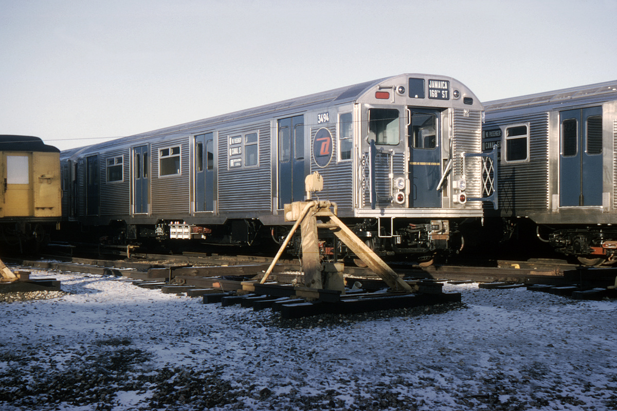 (402k, 1044x705)<br><b>Country:</b> United States<br><b>City:</b> New York<br><b>System:</b> New York City Transit<br><b>Location:</b> Coney Island Yard<br><b>Car:</b> R-32 (Budd, 1964)  3494 <br><b>Collection of:</b> David Pirmann<br><b>Date:</b> 1/3/1965<br><b>Viewed (this week/total):</b> 5 / 7821