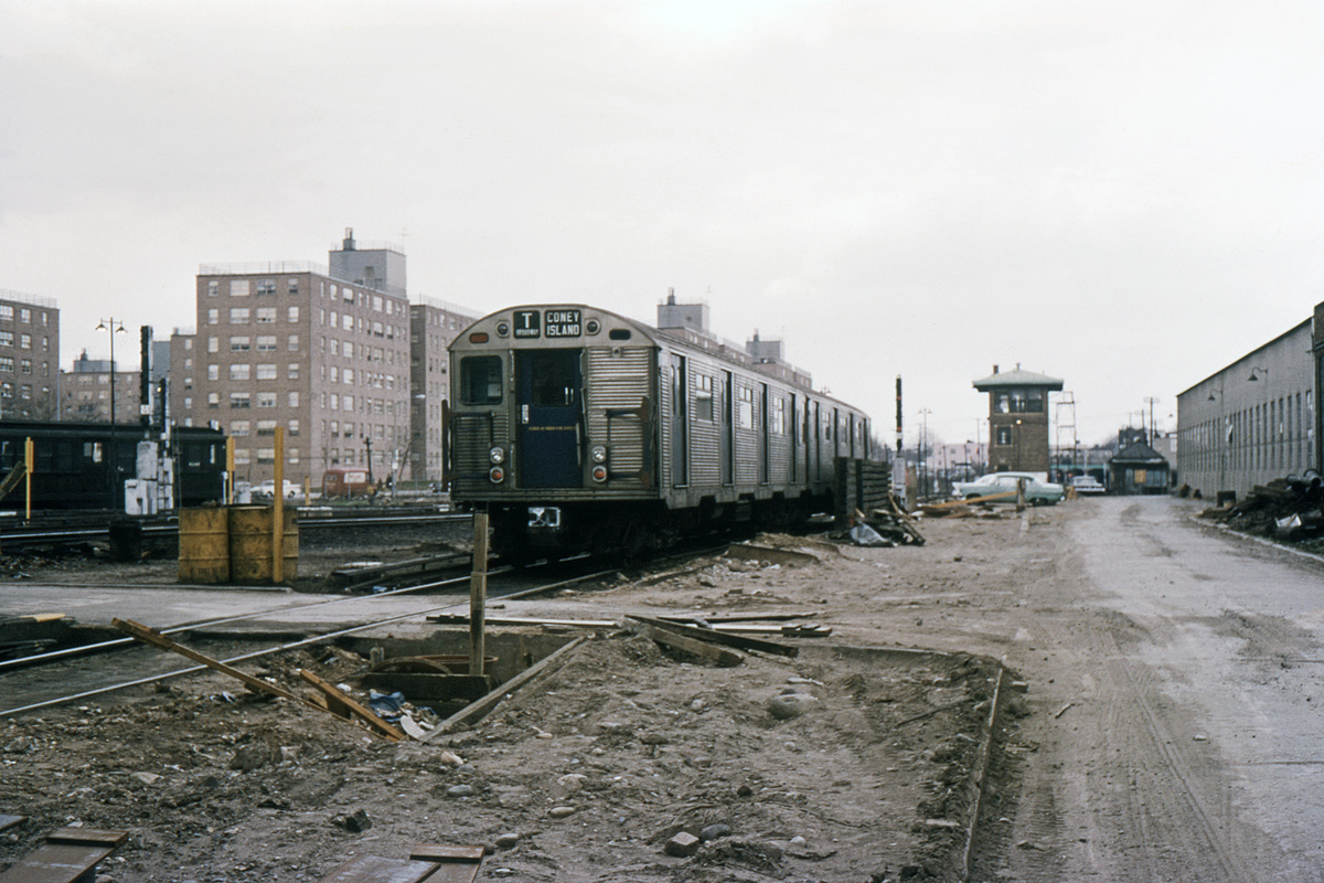 (326k, 1044x691)<br><b>Country:</b> United States<br><b>City:</b> New York<br><b>System:</b> New York City Transit<br><b>Location:</b> Coney Island Yard<br><b>Car:</b> R-32 (Budd, 1964)  3635 <br><b>Collection of:</b> David Pirmann<br><b>Date:</b> 4/9/1966<br><b>Viewed (this week/total):</b> 2 / 3080