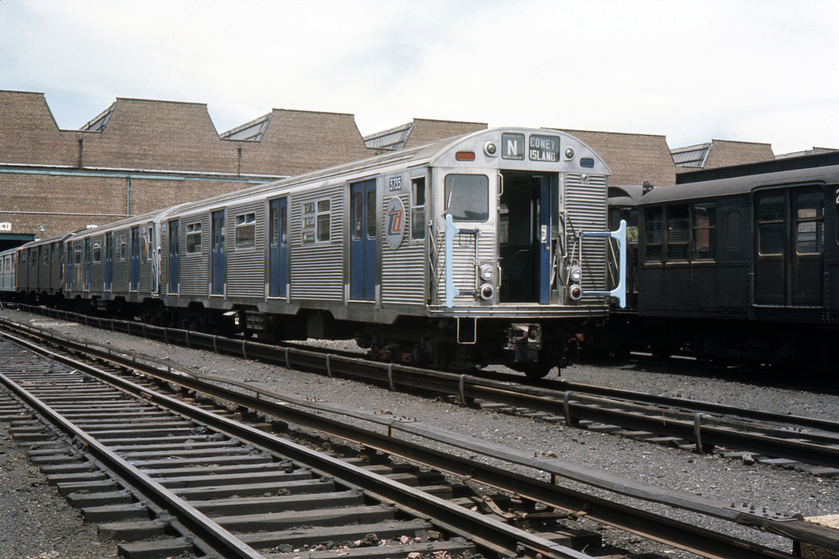 (428k, 1044x714)<br><b>Country:</b> United States<br><b>City:</b> New York<br><b>System:</b> New York City Transit<br><b>Location:</b> Coney Island Yard<br><b>Car:</b> R-32 (Budd, 1964)  3735 <br><b>Collection of:</b> David Pirmann<br><b>Date:</b> 2/25/1966<br><b>Viewed (this week/total):</b> 1 / 2712