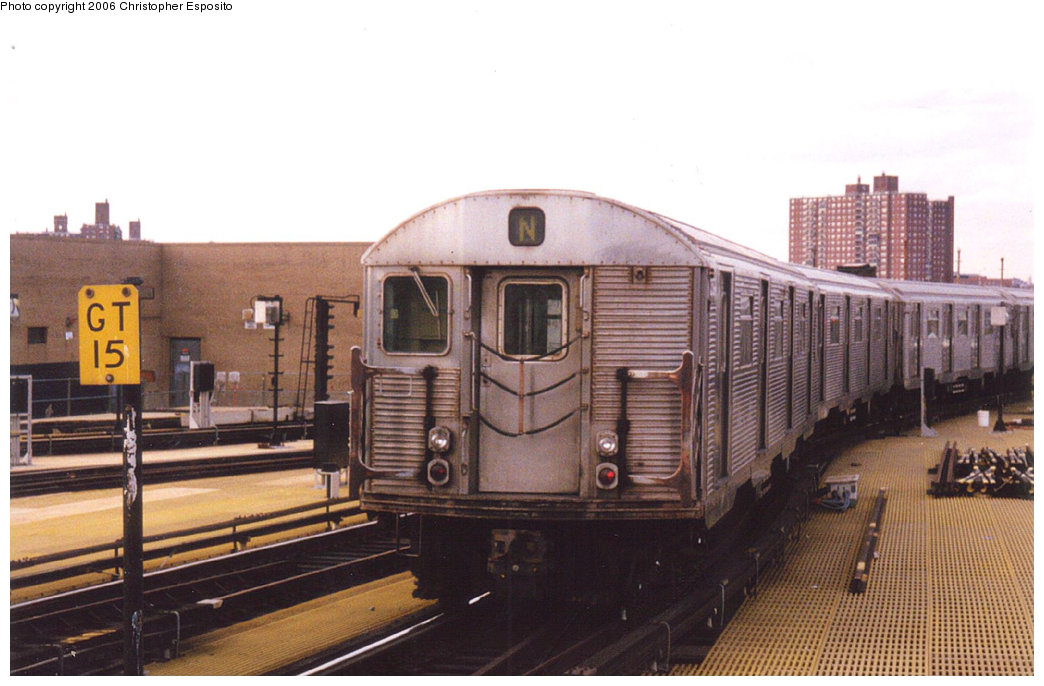 (159k, 1044x686)<br><b>Country:</b> United States<br><b>City:</b> New York<br><b>System:</b> New York City Transit<br><b>Location:</b> Coney Island/Stillwell Avenue<br><b>Route:</b> N<br><b>Car:</b> R-32 (Budd, 1964)   <br><b>Photo by:</b> Christopher Esposito<br><b>Date:</b> 2000<br><b>Viewed (this week/total):</b> 0 / 1999