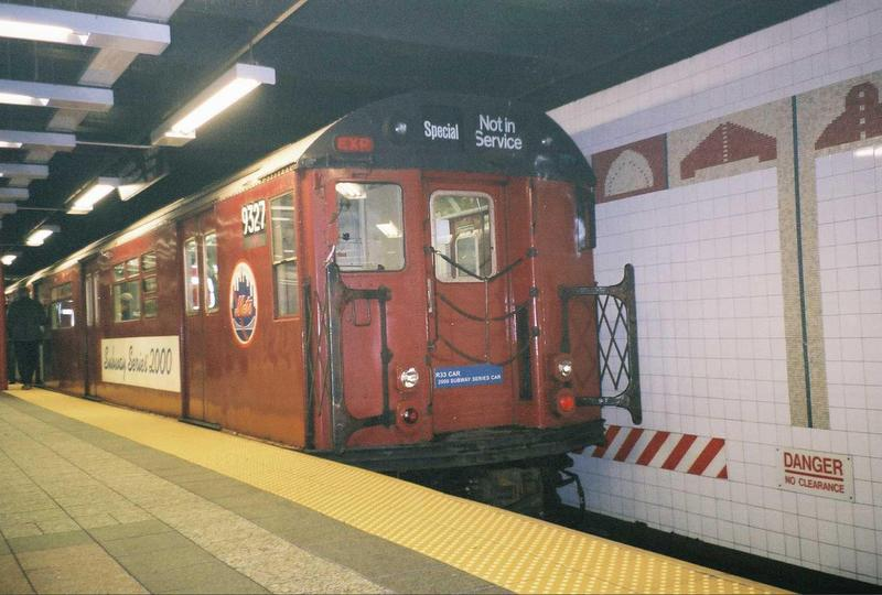 (65k, 800x540)<br><b>Country:</b> United States<br><b>City:</b> New York<br><b>System:</b> New York City Transit<br><b>Line:</b> IRT Times Square-Grand Central Shuttle<br><b>Location:</b> Grand Central <br><b>Route:</b> Fan Trip<br><b>Car:</b> R-33 World's Fair (St. Louis, 1963-64) 9327 <br><b>Photo by:</b> Gary Chatterton<br><b>Date:</b> 5/1/2005<br><b>Viewed (this week/total):</b> 0 / 3578